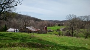 View looking over the holler