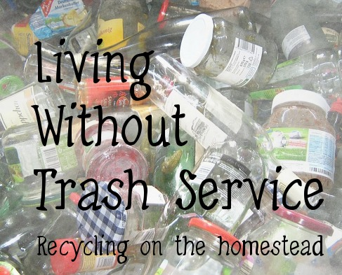 living without trash service