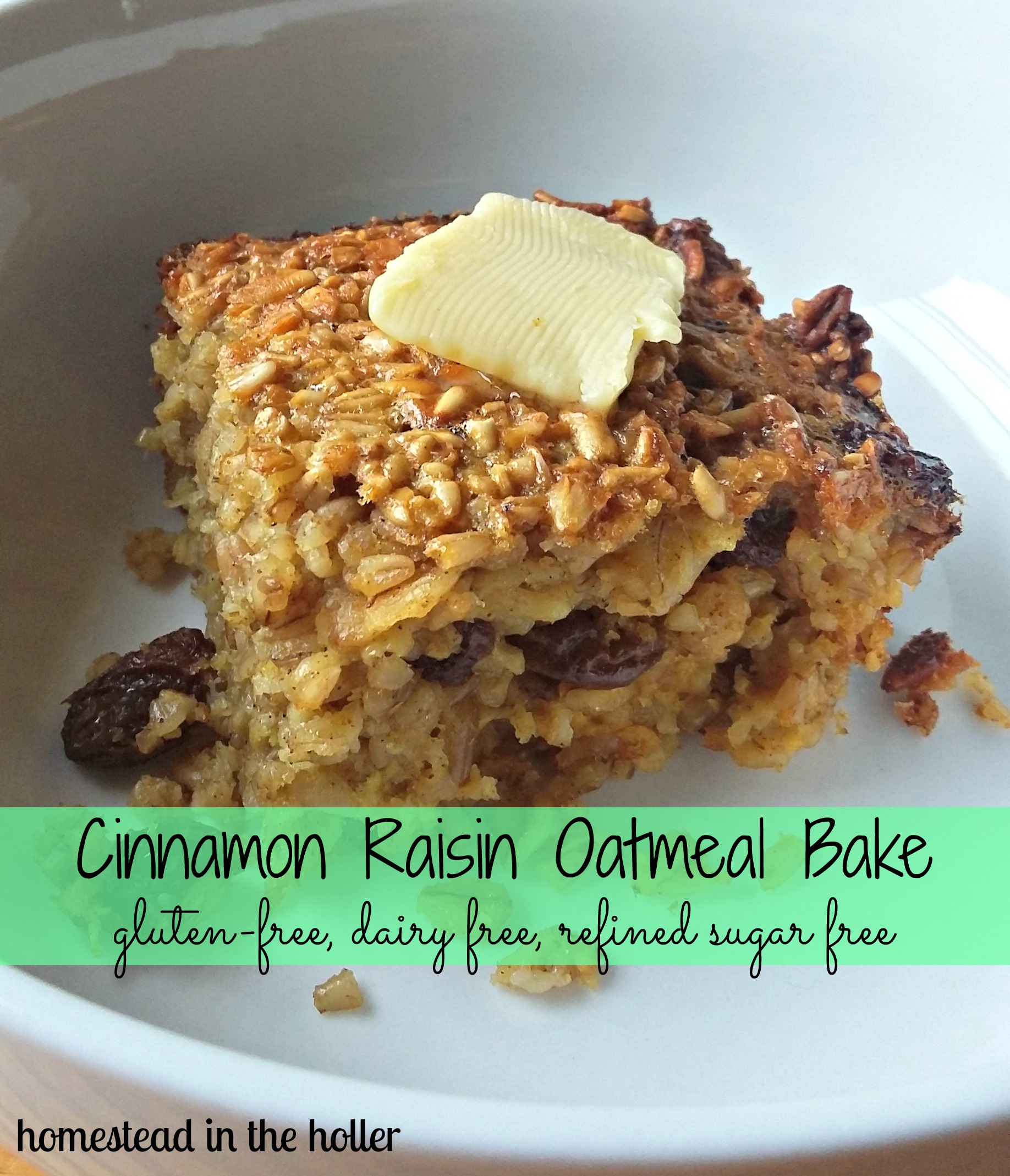 Cinnamon Raisin Oatmeal Bake