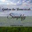 Goal on the homestead: Simplify