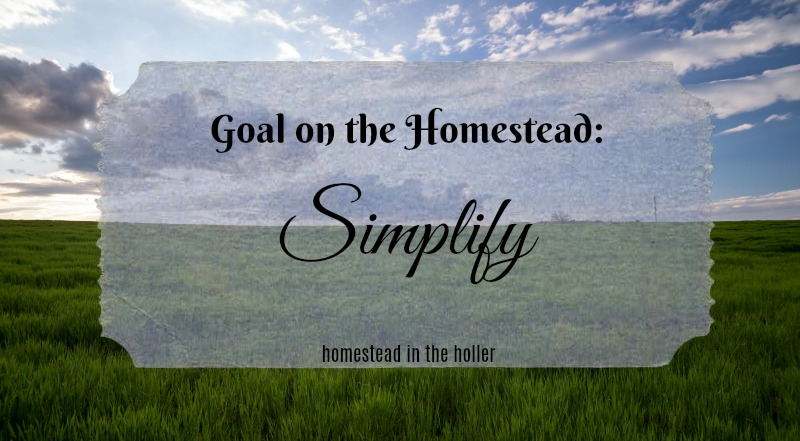Goals on the homestead: Simplify
