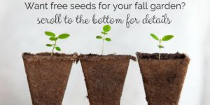 Baker Creek Fall Garden seed giveaway